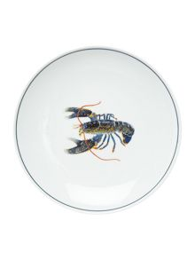 Jersey Pottery Seaflower Blue Lobster 23cm Side Plate