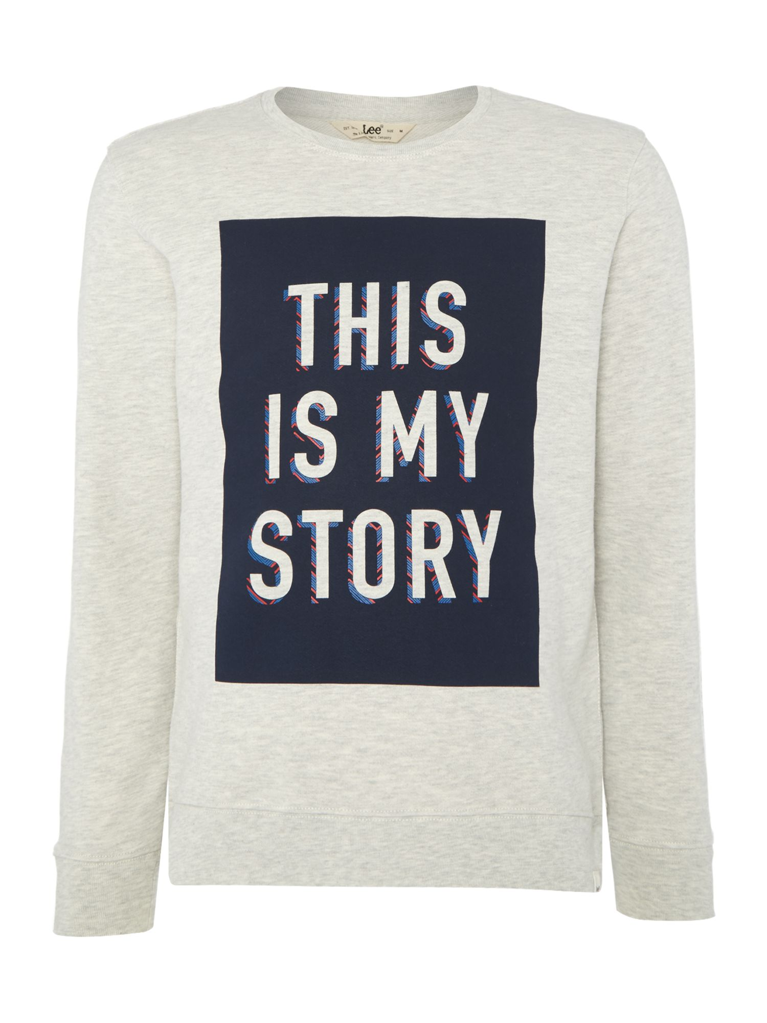 Men's Lee Crew neck this is my story printed sweatshirt, Off White