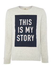 Lee Crew neck this is my story printed sweatshirt