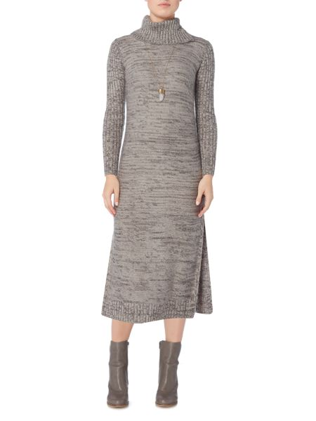 Gray & Willow Roll neck slim arm tunic dress