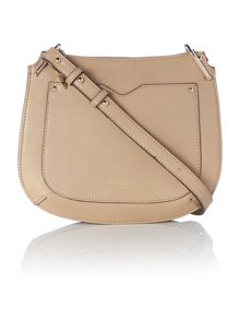 Fiorelli Boston neutral small saddle crossbody