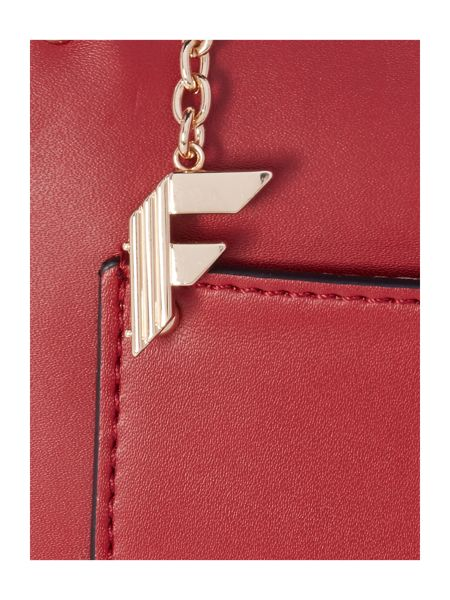 Fiorelli Boston red small saddle crossbody