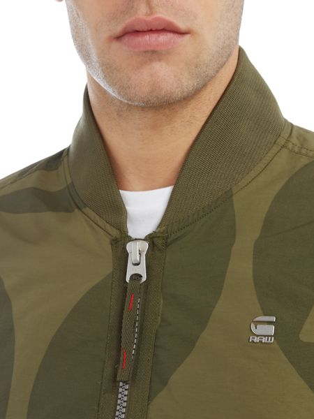 G-Star Batt Dizrey AOP zip through bomber jacket
