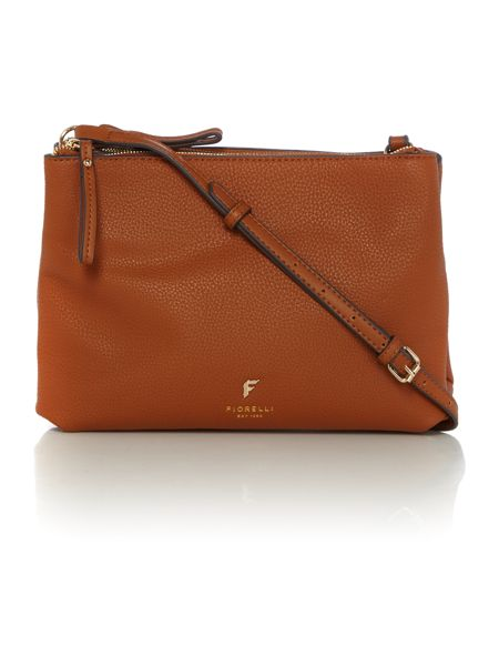 Fiorelli Daisy tan small ziptop crossbody