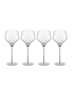 Claudia crystal red wine glass set of 4