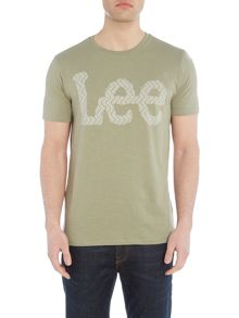 Lee Regular fit chevron printed logo t shirt
