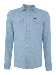 Lee Slim fit western slub shirt