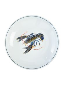 Jersey Pottery Seaflower Blue Lobster 19cm Bowl