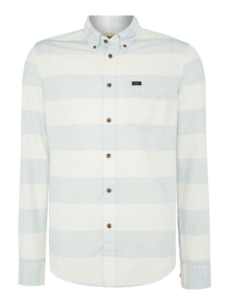 Lee Regular fit button down stripe shirt