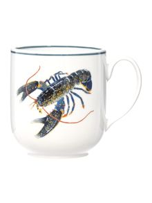 Jersey Pottery Seaflower Blue Lobster Mug