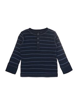 Boys Long Sleeve Striped Henley Top