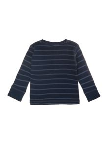 name it Boys Long Sleeve Striped Henley Top