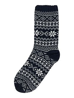 Fairisle Slipper Sock