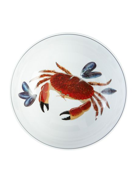 Jersey Pottery Seaflower Crab 23cm Serving Bowl