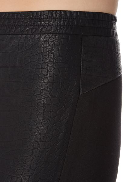 Biba Croc faux leather and ponti trousers