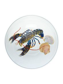 Jersey Pottery Seaflower Blue Lobster 28cm Serving Bowl