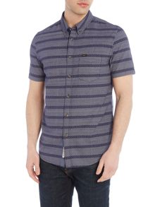 Lee Regular fit dobby stripe button down shirt