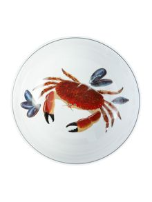 Jersey Pottery Seaflower Crab 28cm Serving Bowl