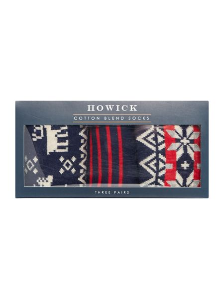 Howick 3 Pack Bright Fairisle Box Set