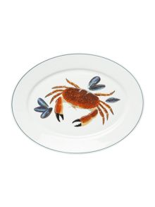 Jersey Pottery Seaflower Crab Large 42cm Oval Platter