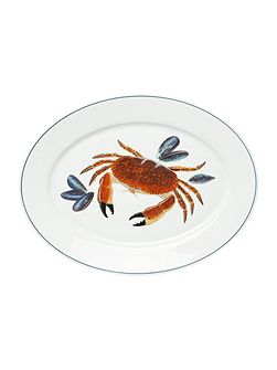 Seaflower Crab Large 42cm Oval Platter