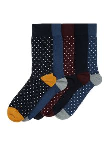 Linea 5 Pack Spot Sock