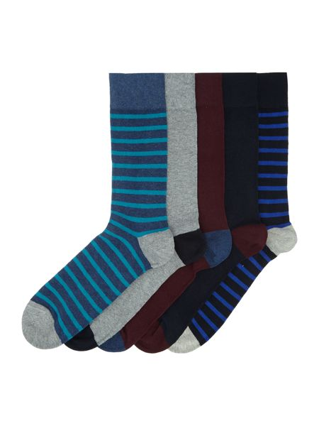 Linea 5 Pack Stripe Sock