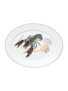 Jersey Pottery Seaflower Blue Lobster Large 42cm Oval Platter