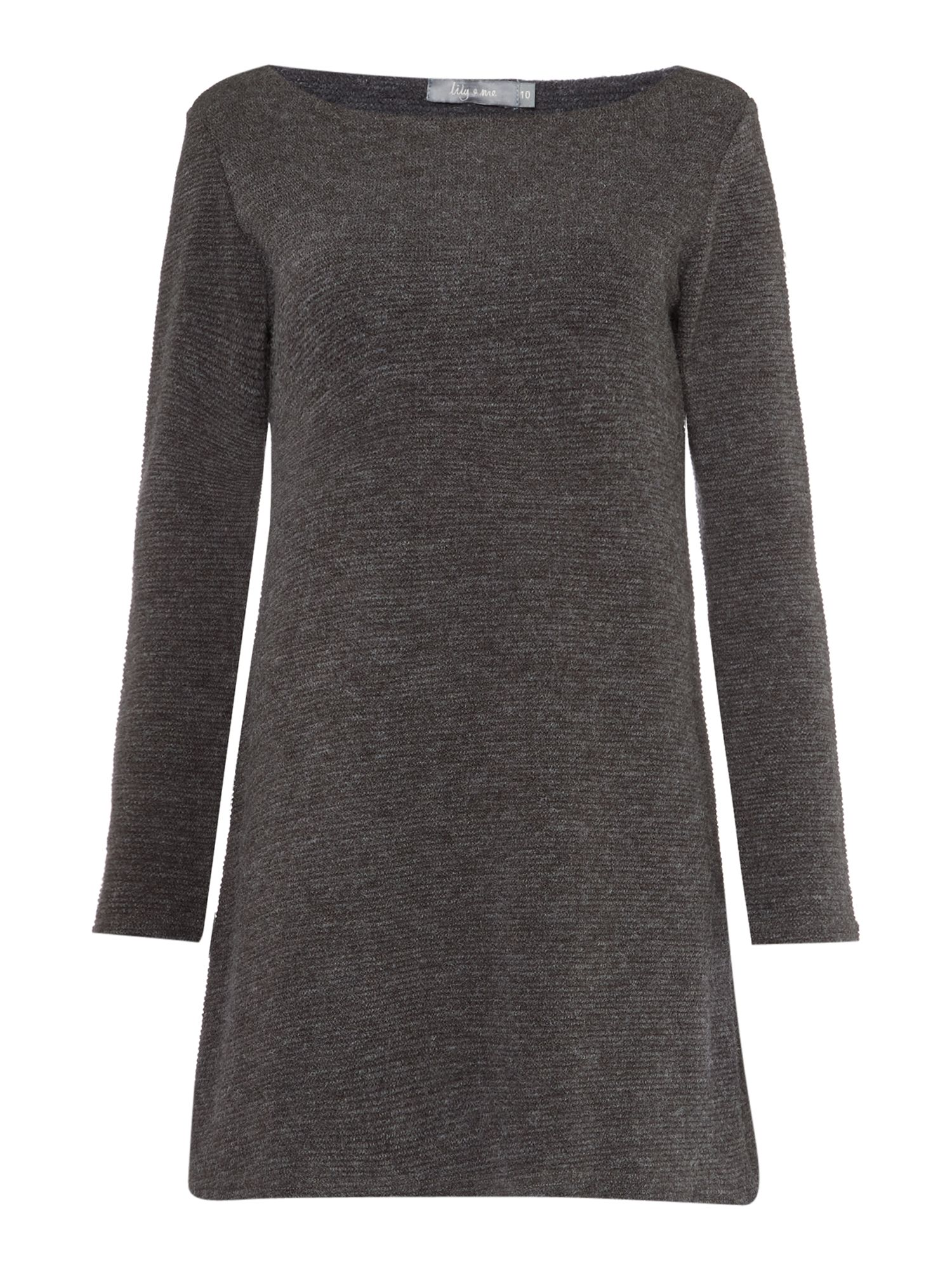 LILY & ME LILY & ME Ridge Boatneck Tunic Dress, Grey
