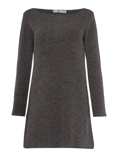 LILY & ME Ridge Boatneck Tunic Dress