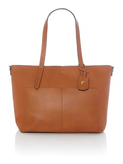 Dahlia tan large tote bag