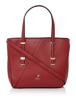 Sloane red small tote cross body bag