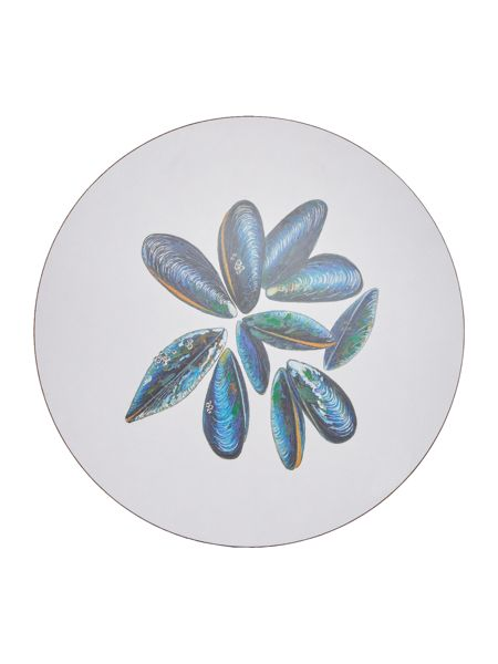 Jersey Pottery Seaflower Mussel 25.6cm Placemat