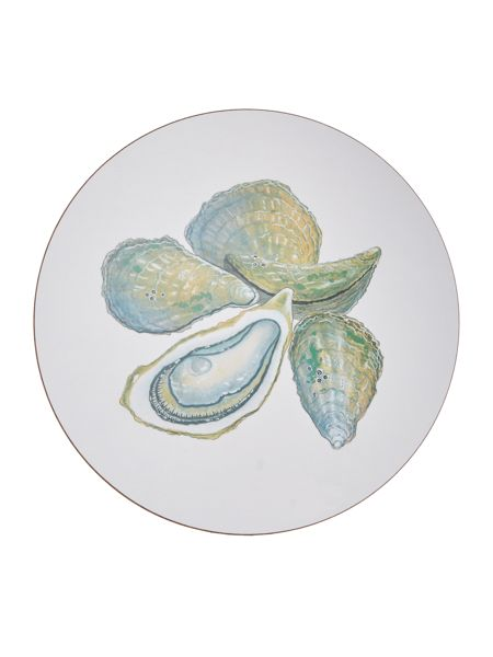 Jersey Pottery Seaflower Oyster 25.6cm Placemat