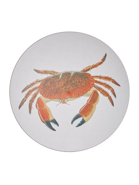 Jersey Pottery Seaflower Crab 25.6cm Placemat
