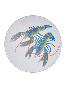 Jersey Pottery Seaflower Blue Lobster 25.6cm Placemat