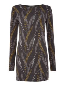 LILY & ME Angela Feather Print Tunic