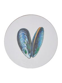 Jersey Pottery Seaflower Mussel 10cm Coaster