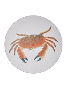 Jersey Pottery Seaflower Crab 10cm Coaster