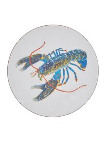Jersey Pottery Seaflower Blue Lobster 10cm Coaster