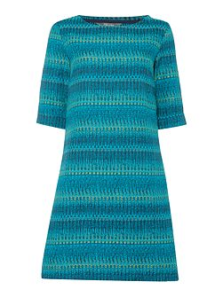 Woven Jacquard Shift Dress
