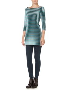 LILY & ME Charlotte Stripe Tunic Tee