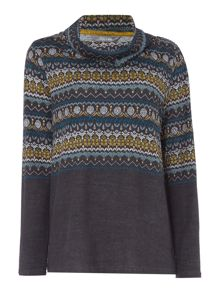 LILY & ME Relaxed Fairisle Jumper