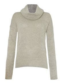 LILY & ME Easy Oversized Jumper with Detatchable Snood