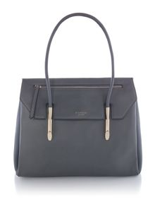 Fiorelli Carlton grey large flapover tote bag