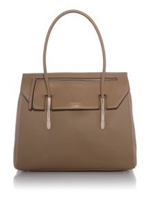 Fiorelli Carlton neutral large flapover tote bag