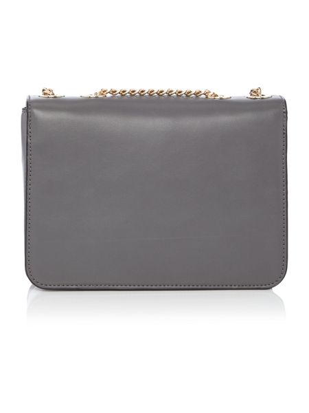 Fiorelli Nicole grey flapover cross body bag
