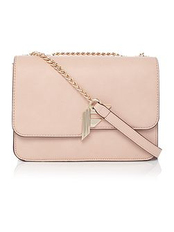 Nicole light pink flapover cross body bag