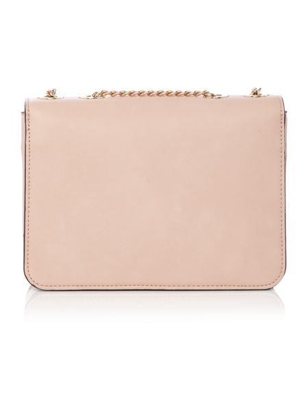 Fiorelli Nicole light pink flapover cross body bag