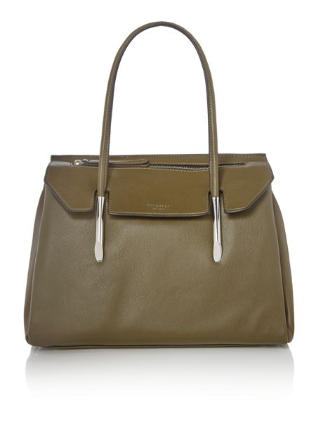 Fiorelli Carlton green large flapover tote bag